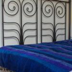 yak couverture de laine rayé bleu (220 x 120 cm)2