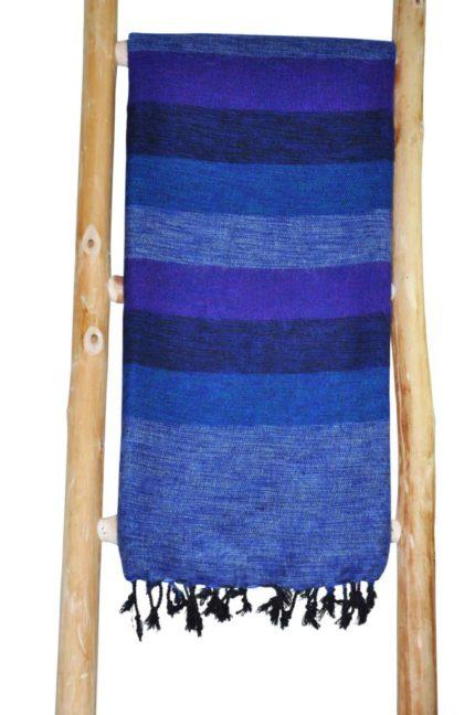 Echarpe Népal Jeans bleu – Commande en ligne – Shawls4you.fr