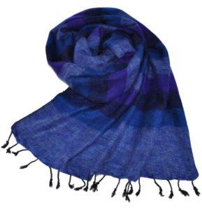 Echarpe Népal Jeans bleu - Commande en ligne - Shawls4you.fr