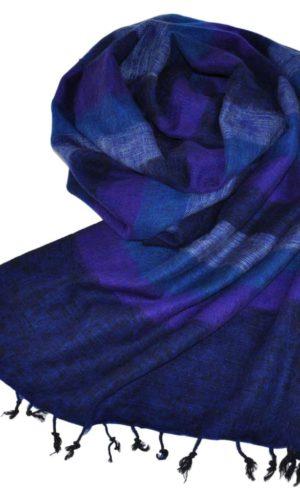 Echarpe Nepal bleu foncé - Commande en ligne - Shawls4you.fr