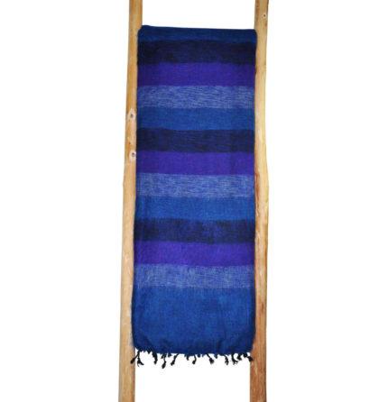 Népal Plaid Jean bleu rayé – Commande en ligne – Shawls4you.fr