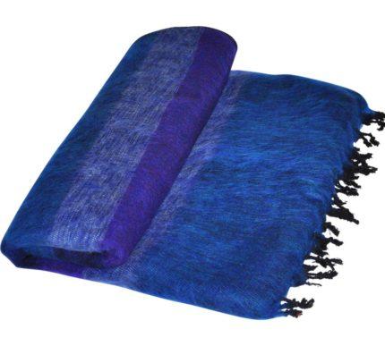 Népal Plaid Jeans bleu rayé – Commande en ligne -Shawls4you.fr