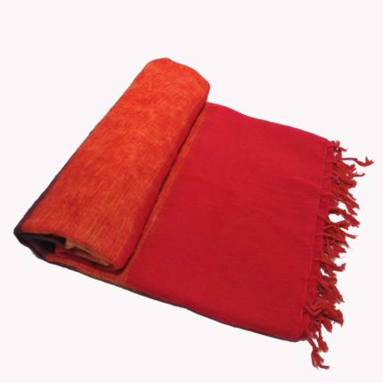 Népal Plaid rayé rouge – Commande en ligne – Shawls4you.fr