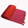 Népal Plaid rose rayée – Commande en ligne – Shawls4you.fr