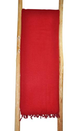 Népal Plaid rouge foncé - Commande en ligne - Shawls4you.fr
