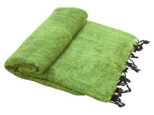Népal Plaid vert d'herbe - Commande en ligne - Shawls4you.fr