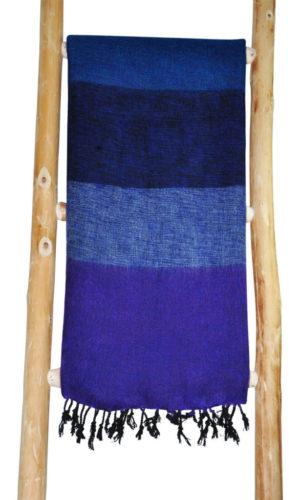 Népal châle Bleu Violet - Commande en ligne - Shawls4you.fr