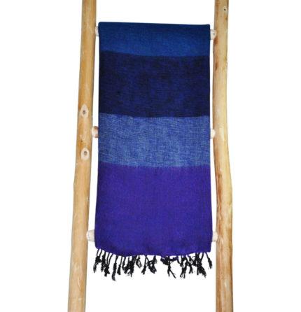 Népal châle Bleu Violet – Commande en ligne- Shawls4you.fr