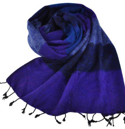 Népal châle Bleu Violet – Commande en ligne – Shawls4you.fr
