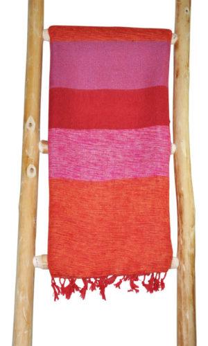 Népal châle Rose Orange - Commande en ligne - Shawls4you.fr