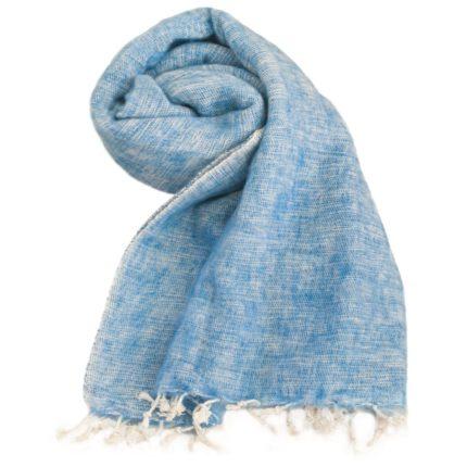 Népal châle bleu clair – Commande en ligne – Shawls4you.fr