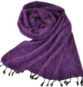 Népal châle lilas - Commande en ligne - Shawls4you.fr