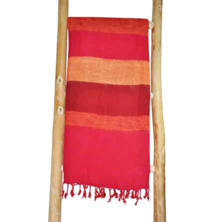 Népal châle rouge, cyclaam – Commande en ligne -Shawls4you.fr
