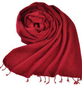 Népal châle rouge foncé - Commande en ligne - Shawls4you.fr