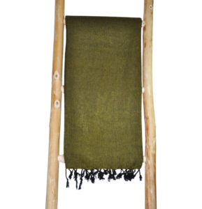 Népal châle vert olive - Commande en ligne - Shawls4you.fr