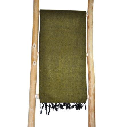 Népal châle vert olive – Commande en ligne – Shawls4you.fr