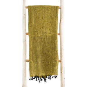 Nepal Shawl jaune ocre Commande en ligne - Shawls4you.fr