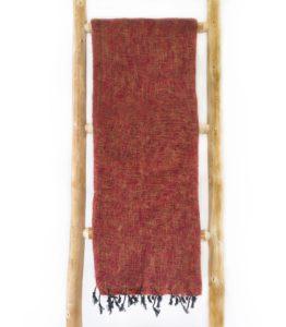 Népal châle brun rouge- Commande en ligne - Shawls4you.fr