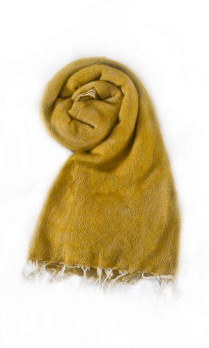 Népal châle jaune maïs- Commande en ligne - Shawls4you.fr