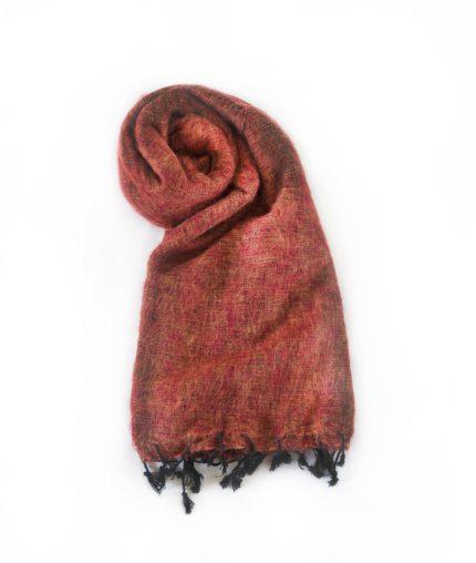 Népal châle brun rouge- Commande en ligne – Shawls4you.fr