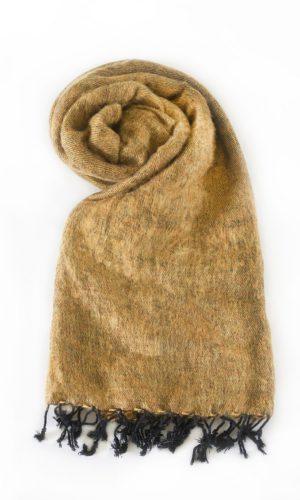 Népal châle brun doré- Commande en ligne - Shawls4you.fr