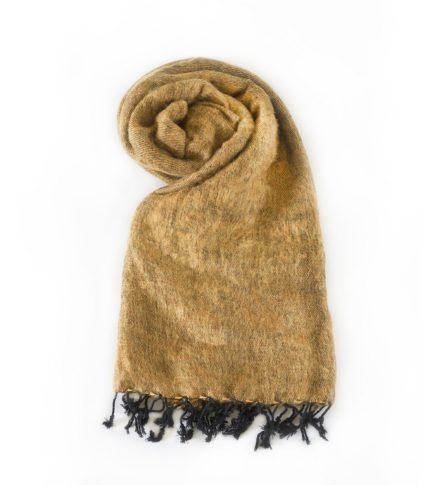 Népal châle brun doré- Commande en ligne – Shawls4you.fr