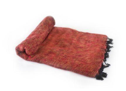 Népal Plaid brun rouge- Commande en ligne – Shawls4you.fr